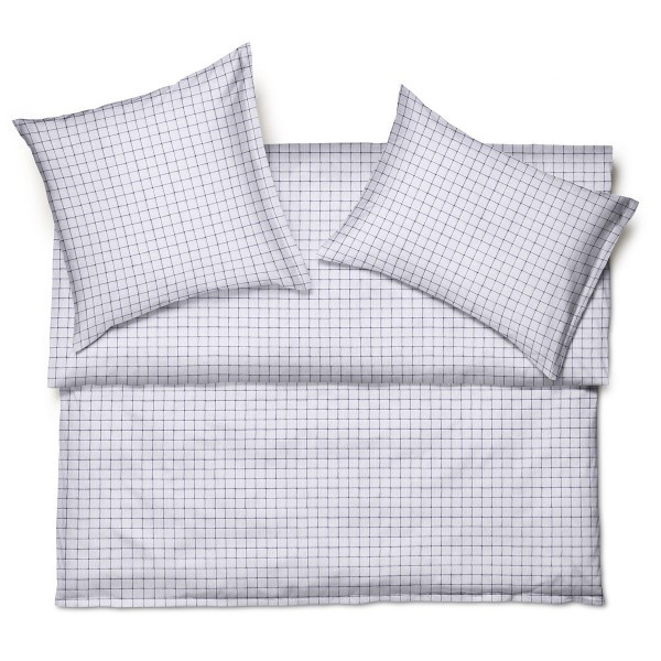 Glenn Satin Gris bed linen from Schlossberg