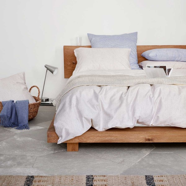 Phil Satin Beige Bed Linen from Schlossberg