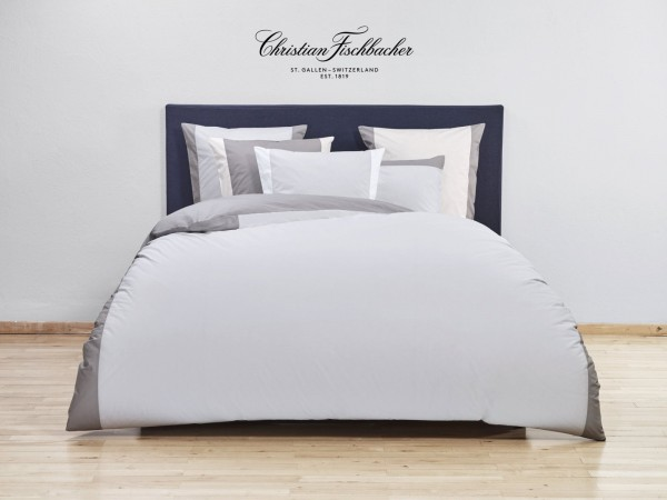 Percale Duo Light Grey Christian Fischbacher Bettwäsche