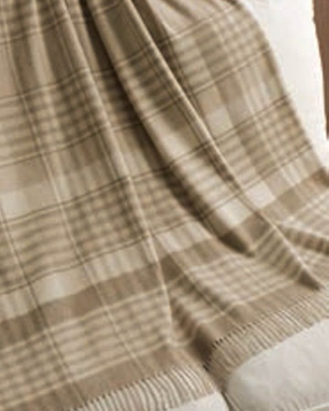 Everest Check - Plaid aus reinem Cashmere von Marzotto